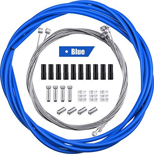 4 Stück Universal Fahrrad Innen Bremse Kabel Gehäuse Kit Fahrrad Bremskabel Ersatz für Berg und Rennrad (Blau)