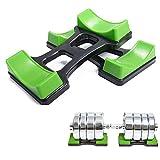 Grofitness Paar Hantel Rack Barbell Ständer Gewichtheben Boden Halterung Gewicht Sets