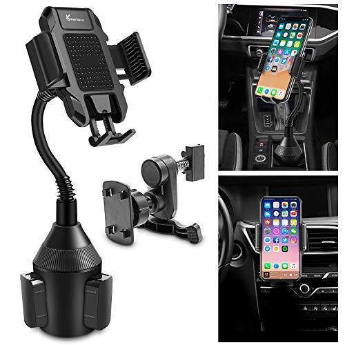 Cup Phone Holder, Vansky Adjustable Gooseneck Car Phone Mount for iPhone 11 Pro Xs Max R X 8 Plus 7 Plus 6S Samsung Galaxy S10 S9 Edge S8 LG Sony Huawei and More