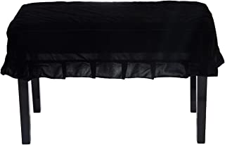 Timiy Universal Piano Stool Chair Bench Cover or Piano Dual Seat Bench(Black)
