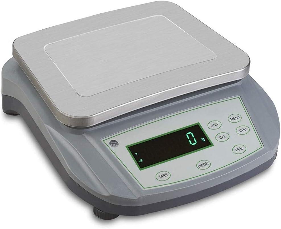 Balanzas De Plataforma Electrónica De Laboratorio De Alta Precisión De 0,1 G Escala De Equilibrio De Conteo Industrial Analítico Digital (Tamaño: 30 Kg / 0,1 G)