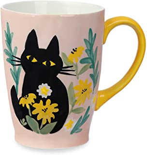 NymphFable Cat Mug Coffee Cups Ceramic Coffee Mug with Handle 100% Hand Painted Christmas Gift Large 600ml