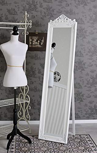 Ankleidespiegel Standspiegel Weiss Landhausstil Spiegel 180 x 44cm sna001 Palazzo Exklusiv