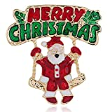CAPOOK -Europe and America Santa Claus Stereo Brooch Retro Exquisite Alloy Drop Oil Santa Brooch Christmas Day Gift pin Simple Jewelry Fashion