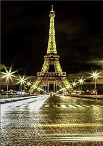 Diopn 5D Diamant Schilderij Mooie Tijd Beperkte Mand Bouwtoren van Parijs Teken Steek Patroon voor Foto Strass Diamanten (Rond Diamant 30 * 40) 30 * 40