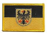 Aufnäher Patch Flagge Deutschland Stadt Aachen - 8 x 6 cm
