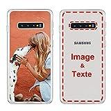 MXCUSTOM Coque Personnalisee Samsung Galaxy S10+ S10 Plus, Personnalisable avec Votre Propre Photo...