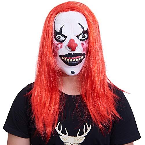 JYSD Horror de Halloween de la Cara Llena máscara de látex Mascarada con la Peluca Tapa de la Culata MJJ9/29 (Color : Style Two)