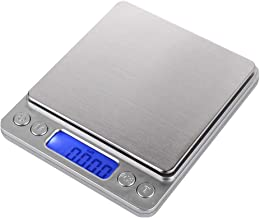 New Design I2000 3kg 0.1g Weighing Scale Digital Practical Mini Stainless Steel LCD, Platform Weighing Scale - Stainless Mini Tray, Herb Tool, Salter Food Scale, Lab Weight Scale, Kg G