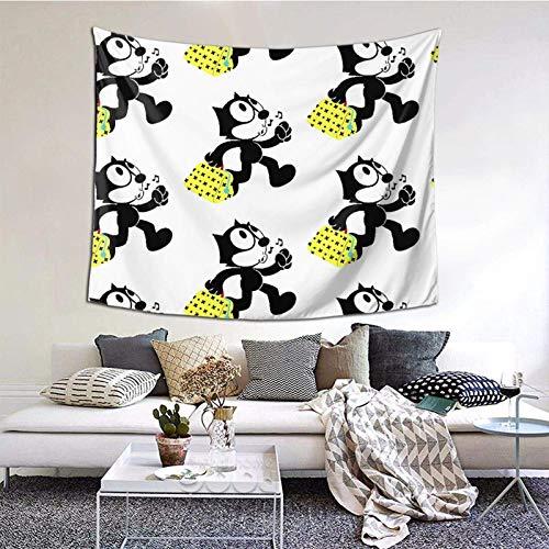 Hdadwy El Gato Tapiz Decorativo de Pared Dormitorio Sala de Estar Dormitorio Fiesta decoración 60x51 Pulgadas