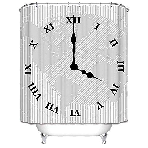 Audie Harson und Jane Duschvorhänge, wasserdicht, schimmelresistent, aus Polyestergewebe, 180 x 180 cm oder 180 x 200 cm, mit 12 weißen Duschvorhang-Haken (180 x 180 cm), 08)