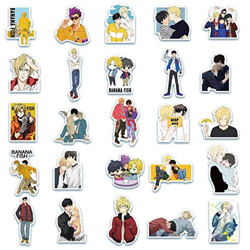 Sweet&rro17 50 stk Anime Banana Fish Stickers Wasserdicht Vinyl Aufkleber fr Laptop, Notebook, Gepck, Skateboard
