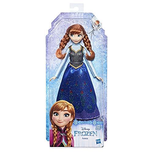 Disney Frozen-E0316 Muñeca Anna, Multicolor (Hasbro E0316ES2)