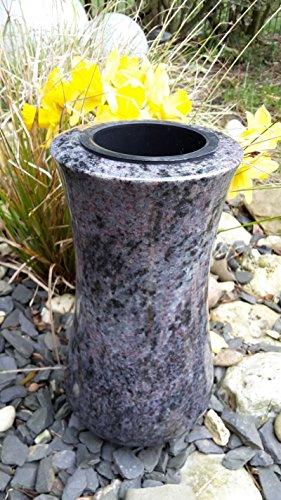 ABC Grabvase aus Granit Orion Granitvase Grabvase Friedhofsvase 22cm x 12cm