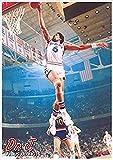 Buyartforless Dr J Julius Irving Dunking 34x24 Sports Art