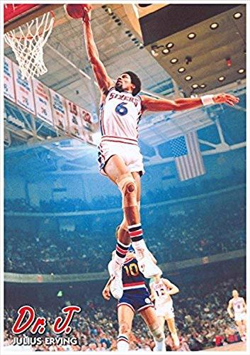 Buyartforless Dr J Julius Irving Dunking 34x24 Sports Art Print Poster Memorabilia Basketball Philadelphia 76ers