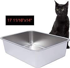 Dimaka Stainless Steel Litter Box for Cat and Kitten, 6 inch