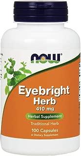 NOW Supplements, Eyebright Herb 410 mg, Herbal Supplement, 100 Veg Capsules