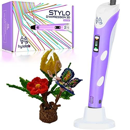 Pluma de Impresión 3D | Ideal para manualidades de niños, adolescentes y adultos | Ocio en familia | Kit de creatividades | Herramienta profesional 3D Pen | filamento PLA 1,75 (ecológico) o ABS