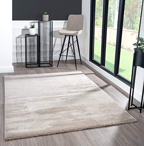 Mia´s Teppiche Scarlett Moderner Weicher Kurzflor (20 mm) Wohnzimmer Teppich Beige 200x290cm, 100% Polypropylen, 200x290 cm