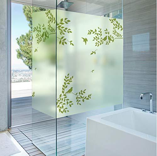 Lvabc Static Cling glas in lood raamfolie mat & ondoorzichtig privacy huisdecoratie digitale afdrukken verwijderbaar