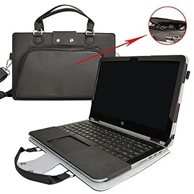 """Labanema 2 en 1 spécialement conçu Etui de Protection en Cuir PU + Sac Portable Sacoche pour 14"""" ASUS VivoBook Flip 14 TP410UA TP410UR Series Ordinateur"""