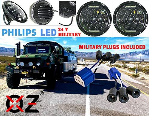 7' OZ-USA 75w High Output Military LED Headlight 24 volts M35a2 M35 M35a3 M923 Truck HMMWV M998 DIESEL