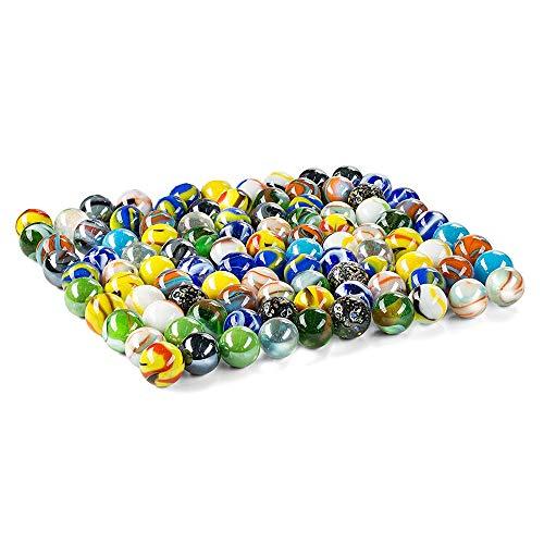 Jiahuade Kleine Glasmurmeln, 430g Murmeln Glas Murmeln Kinder Murmelspiel 15mm Bunte Murmeln Deko Glas Spielzeug Spielmaschine Pflanzendekoration
