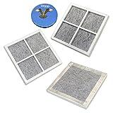 HQRP Paquet de 3 filtres à air pour LG réfrigérateurs LT120F / ADQ73214404 / ADQ73334008 /...