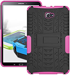 Protective Case Compatible with Samsung 2 in 1 Shockproof Tough Rugged Case Cover Compatible Samsung Tab A 10.1 Inch 2016 T580 Phone case (Color : Pink)