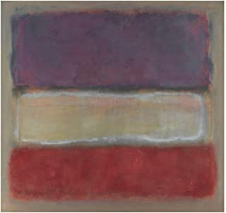JH Lacrocon Purple White and Red 1953 by Mark Rothko - 90X80 cm (ca. 36X32 inch) Abstract Paintings Rolled Canvas Handpainted Reproduction Wall Art for Living Room