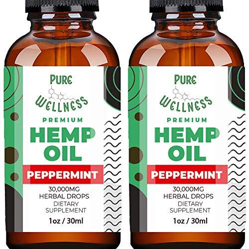 Peppermint Flavor Hemp Seed Oil (30,000mg 2-Pack)