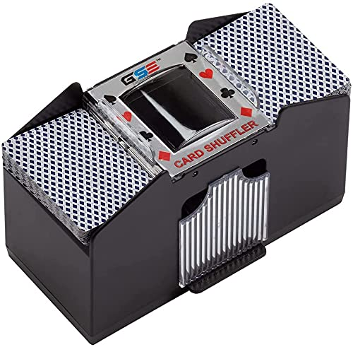 1-6 betala elektrisk shuffling maskin, batteridriven automatisk poker shuffling maskin, lämplig för kasinoturnering familj kortspel, poker, rummy, blackjack,4 pay