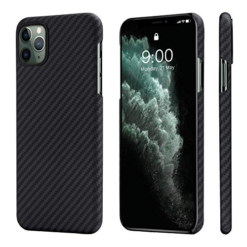 pitaka MagEZ Hülle, ultradünn, magnetische Hülle für iPhone 11 Pro (5,8