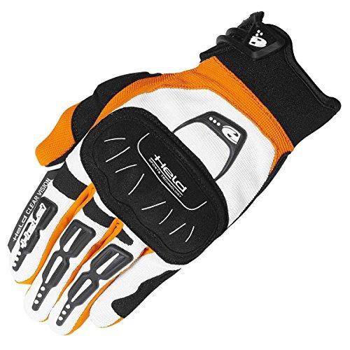 Held Backflip Crosshandschuh, Farbe Weiss-orange, Größe XL / 10