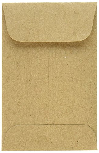 LUX Paper #1 Coin Envelopes (2 1/4 x 3 1/2) - Grocery Bag (500 Qty.)   Perfect for the HOLIDAYS, Weddings, Parties & Place Cards   Fits Small Parts, Stamps, Jewelry, Seeds   1COGB-500