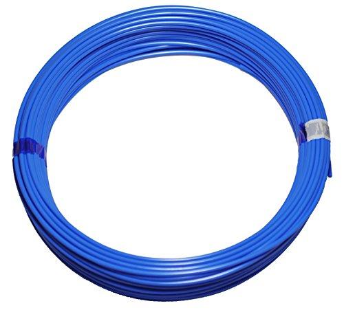 Polyethylen-Schlauch PE Pneumatikschlauch, 6mm, 50 Meter Rolle, Farbe: blau