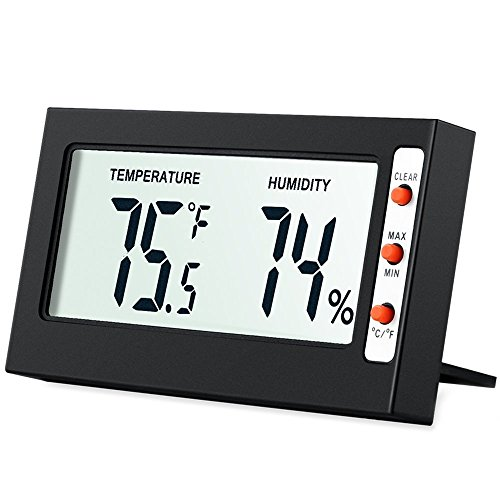 Digital Temperature and Humidity Monitor with LCD Screen MIN//MAX Records AMIR Indoor Hygrometer Thermometer Baby Room Comfort Indicators Multifunctional  for Home etc /°C///°F switch Office