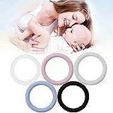 Gwxevce 5 stücke O-Ringe Silikon Baby Dummy Schnullerkette Clips Adapter Halter für MAM Weiß