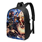 IUBBKI Bolsa para computadora mochila USB Men Women Packable Backpack with USB Charging Port, anti theft packable Work Bag, Book Bags Daypack for Outdoor Hiking Laptop, Avatar The Last Airbender Anime