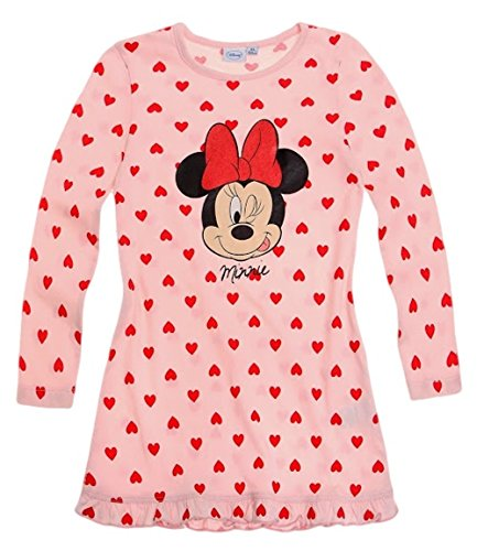 Minnie Mouse Kollektion 2014 Nachthemd 86 92 98 104 110 116 122 128 Mädchen Neu Nachtwäsche Maus L14 Rosa Herzen (86 - 92)