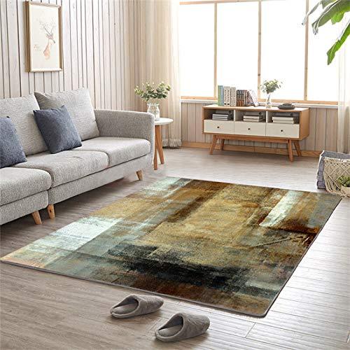 LMDY Alfombra Alfombra nórdica marrón Estilo de Arte Abstracto Alfombra para Sala de Estar sofá Manta Manta para Mesa de café cojín Manta de Noche para dormitorio200*300cm