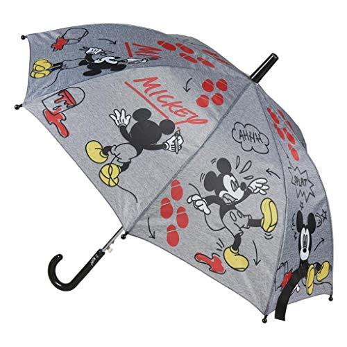 Paraguas automático Mickey Splat - Varillas de Fibra Resistentes al Viento