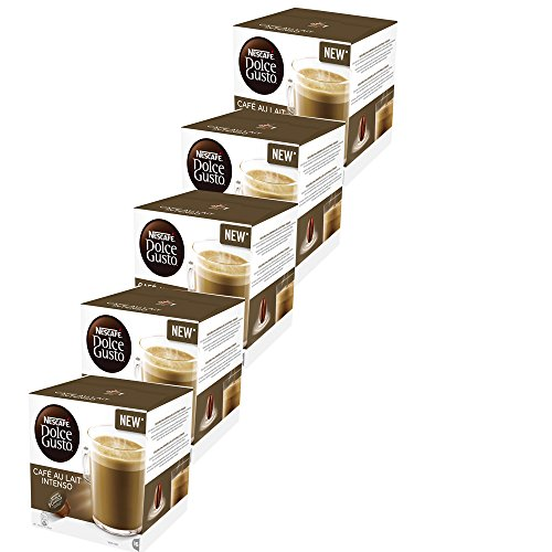 CAFE CON LECHE INTENSO NESCAFE DOLCE GUSTO -5x16 capsulas- 80 Cápsulas de Café con leche intenso