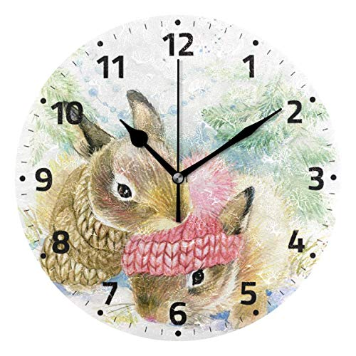 KUYJTHT Reloj de pared decorativo para dormitorio, cocina, sala de estar, escuela, oficina, 9,4 pulgadas