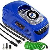 EPAuto AC 110V / DC 12V Dual Power Portable Air Compressor Pump w/Digital Tire Inflator, Support for Cigarette...