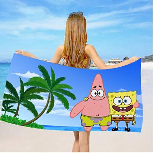 chinawh Cartoon Spongebob Strandtuch Mikrofaser Badetücher Schnelltrocknende Toallas Badezimmer Duschtuch Reisen Big Strandtuch 70X140cm