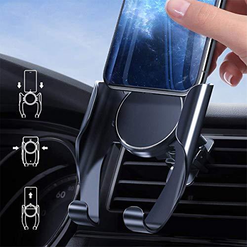 Autotelefonhalterung, Schwerkraftsperre, Speicherklemme, Windschutzscheiben-Armaturenbrett, Handyhalter, Auto-Dreiecksperre Kompatibel iPhone 11 Xs Max XR X 8 7 6, Samsung S10 S9 S8 note10, Huawei