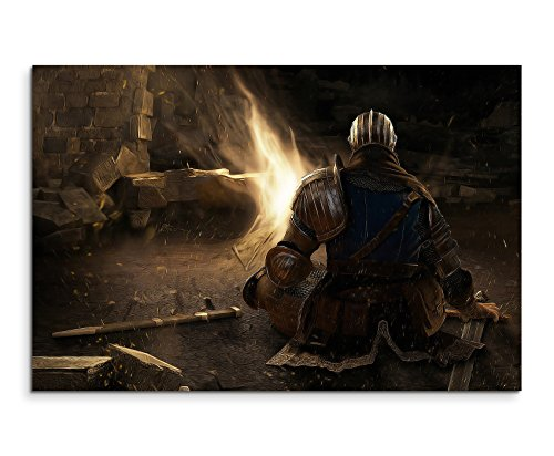 Dark Souls Game Wandbild 120x80cm XXL Bilder und Kunstdrucke auf Leinwand