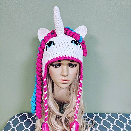Crocheted Unicorn Hat